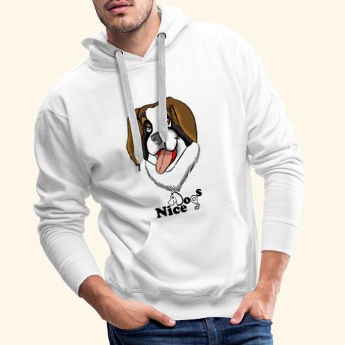 Nice Dogs san bernardo - Felpa con cappuccio premium da uomo