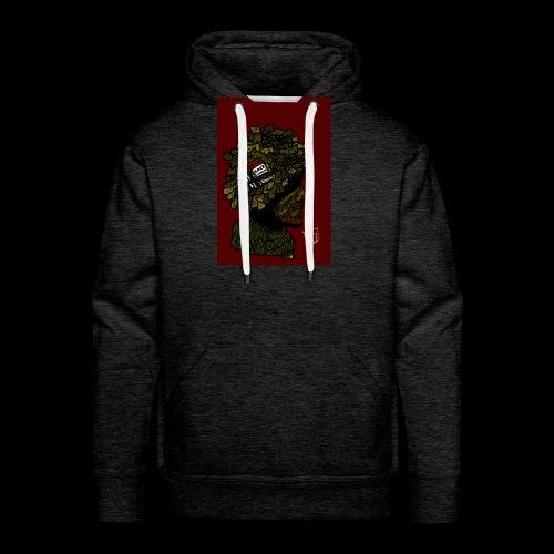 ww2 britse soldaat met rode achtergrond - Mannen Premium hoodie