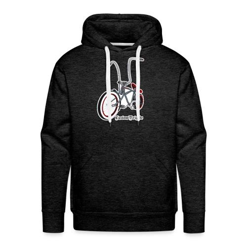 velo01 transparent - Sweat-shirt à capuche Premium pour hommes
