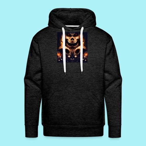 Tête de mort à la chandelle - Sweat-shirt à capuche Premium pour hommes