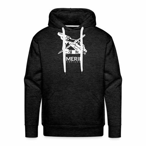 Ancien logo imerir blanc - Sweat-shirt à capuche Premium pour hommes
