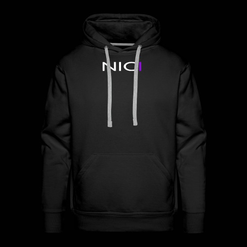 NICI logo WHITE - Miesten premium-huppari