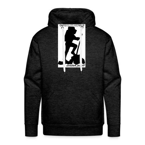 Ontdek de wereld, Backpacker - Mannen Premium hoodie