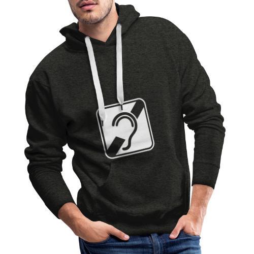 doven. Slechthorend, doofheid, gehoorverlies teken - Mannen Premium hoodie