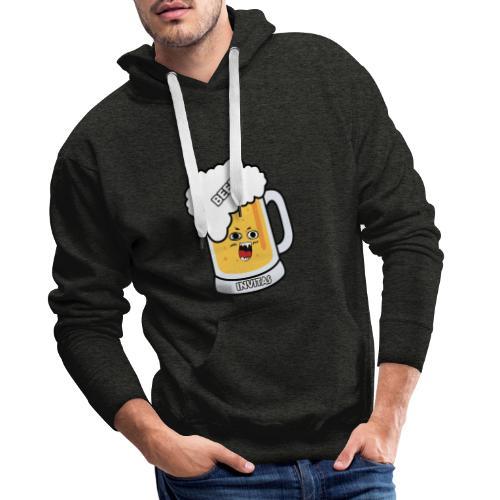 BEER INVITAS - Sudadera con capucha premium para hombre