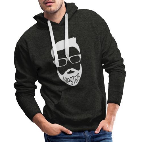 Hipster Bart Vollbart Mann Shirt Geschenk - Männer Premium Hoodie