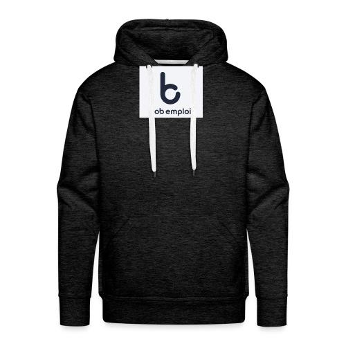 Logo_Bob_Emploi - Sweat-shirt à capuche Premium pour hommes