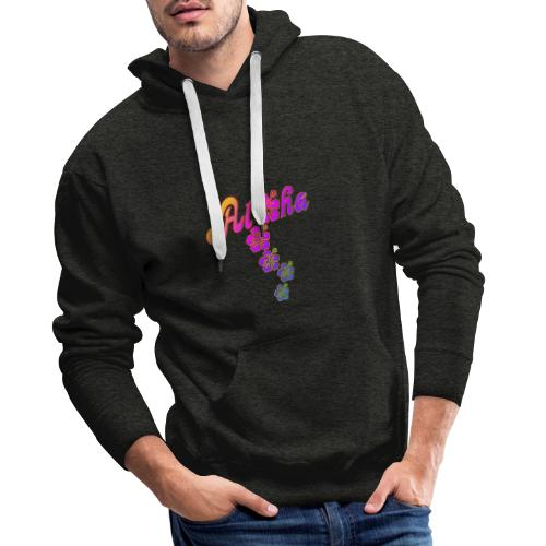 Aloha Hibiscus Blossoms - colored fill - Männer Premium Hoodie