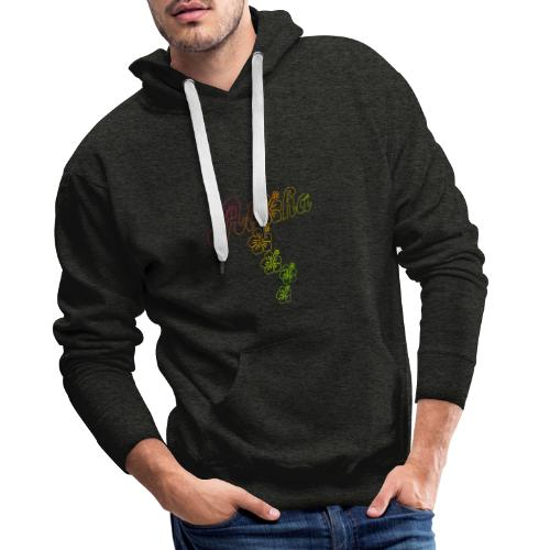 Aloha Hibiscus Blossoms - colored outlines - Männer Premium Hoodie