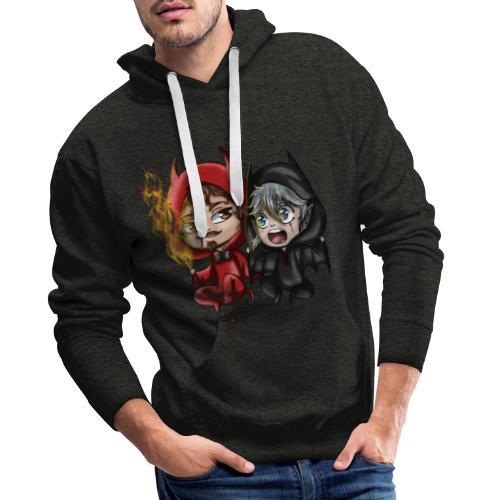 Chibis Halloween - Sweat-shirt à capuche Premium pour hommes