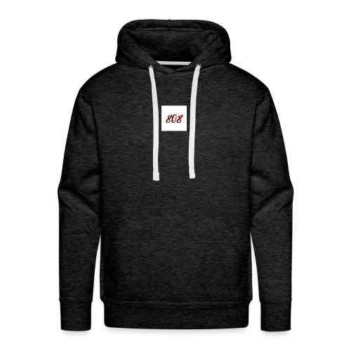 808 red on white box logo - Men's Premium Hoodie