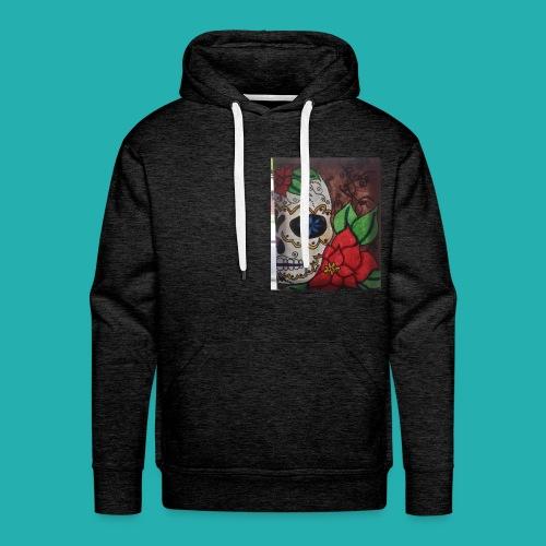 flower-skull - Men's Premium Hoodie