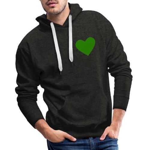 Grünes Herz / Grüne Liebe / Grüner Planet - Männer Premium Hoodie