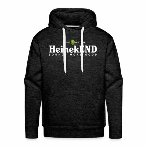 HeinekEND scritta bianca - Felpa con cappuccio premium da uomo