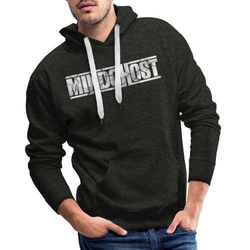 Mindghost Logo white on transparent - Premiumluvtröja herr