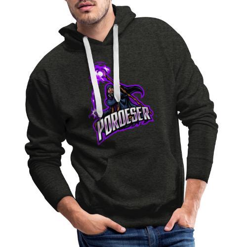 Logo Mascot+Textblock - Männer Premium Hoodie