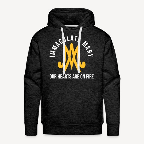IMMACULATE MARY OUR HEARTS ARE ON FIRE - Men's Premium Hoodie