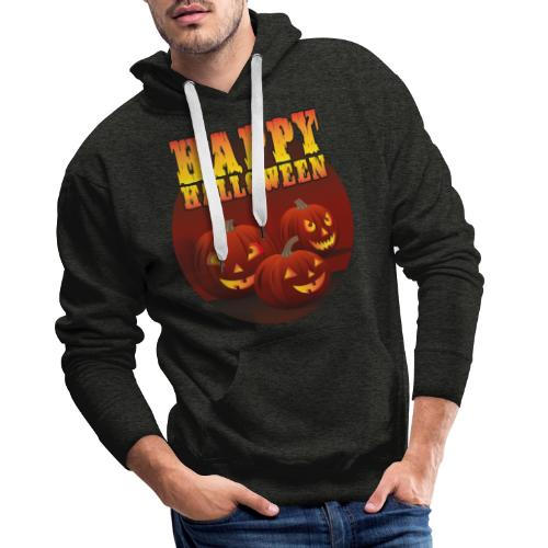 Happy Halloween med pumpor - Premiumluvtröja herr