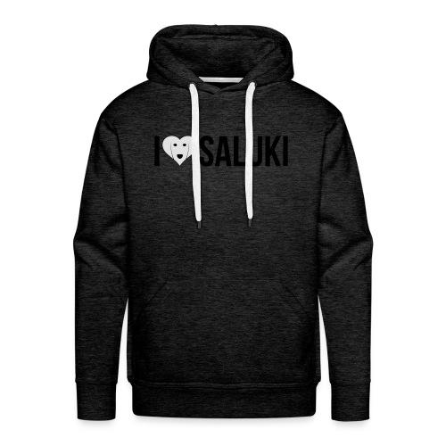 I Love Saluki - Felpa con cappuccio premium da uomo