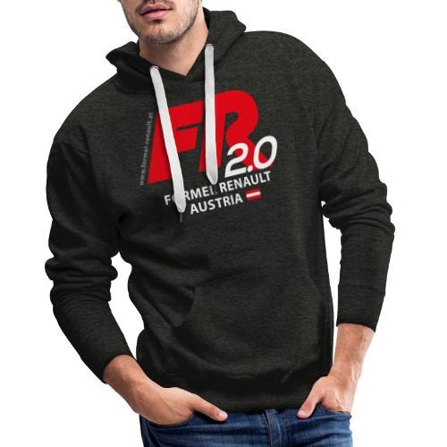 FR2.0-Logo - weiße Schrift - Männer Premium Hoodie