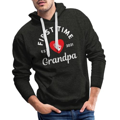 First time grandpa 2021 - Premium hettegenser for menn