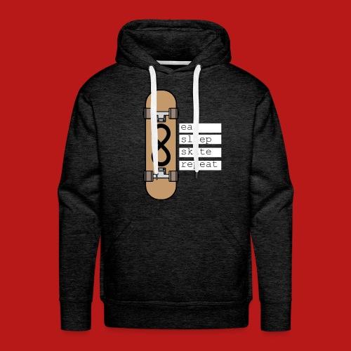 eat sleep skate repeat - Mannen Premium hoodie