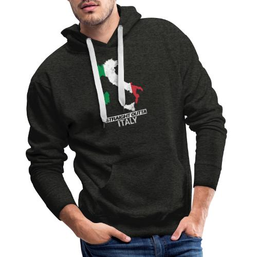 Straight Outta Italy (Italia) country map flag - Men's Premium Hoodie
