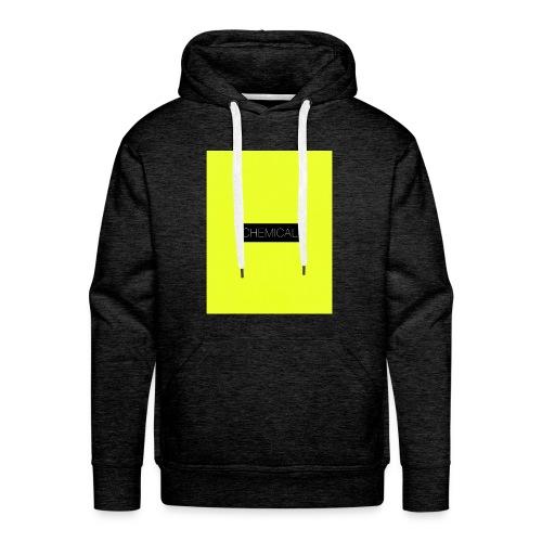 Yellow fluo - Felpa con cappuccio premium da uomo