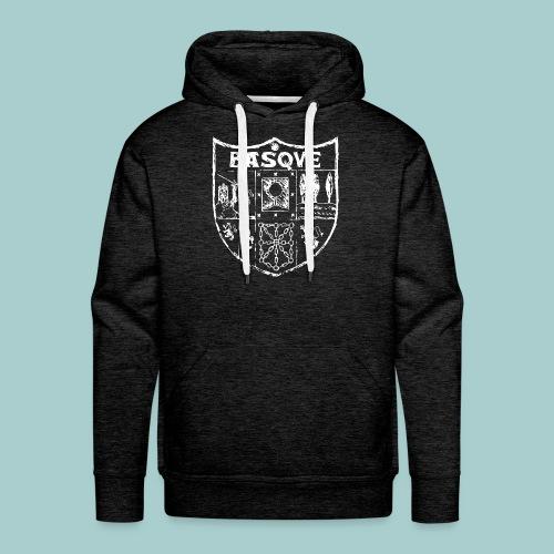hogar escudo zazpiak bat (blanco) - Sudadera con capucha premium para hombre