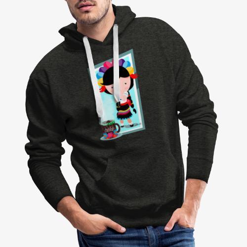 mexicanita - Sudadera con capucha premium para hombre