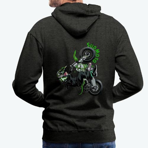 Logo SudMoto - Sweat-shirt à capuche Premium pour hommes