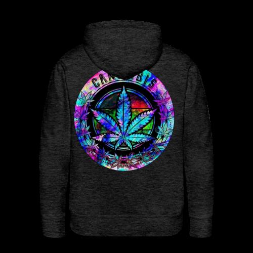 rainbow cannabis (#scheissdrauf) - Männer Premium Hoodie