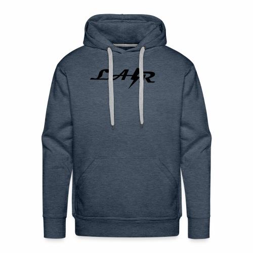 LaZr Lightning Bolt Text Logo - Men's Premium Hoodie