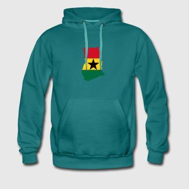Ghana Mappa - Felpa con cappuccio premium da uomo