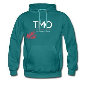 TMO official logo white - Men's Premium Hoodie