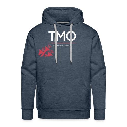 TMO official logo white - Men's Premium Hoodie