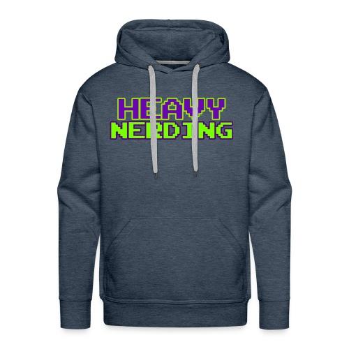Logo heavy nerding - Felpa con cappuccio premium da uomo