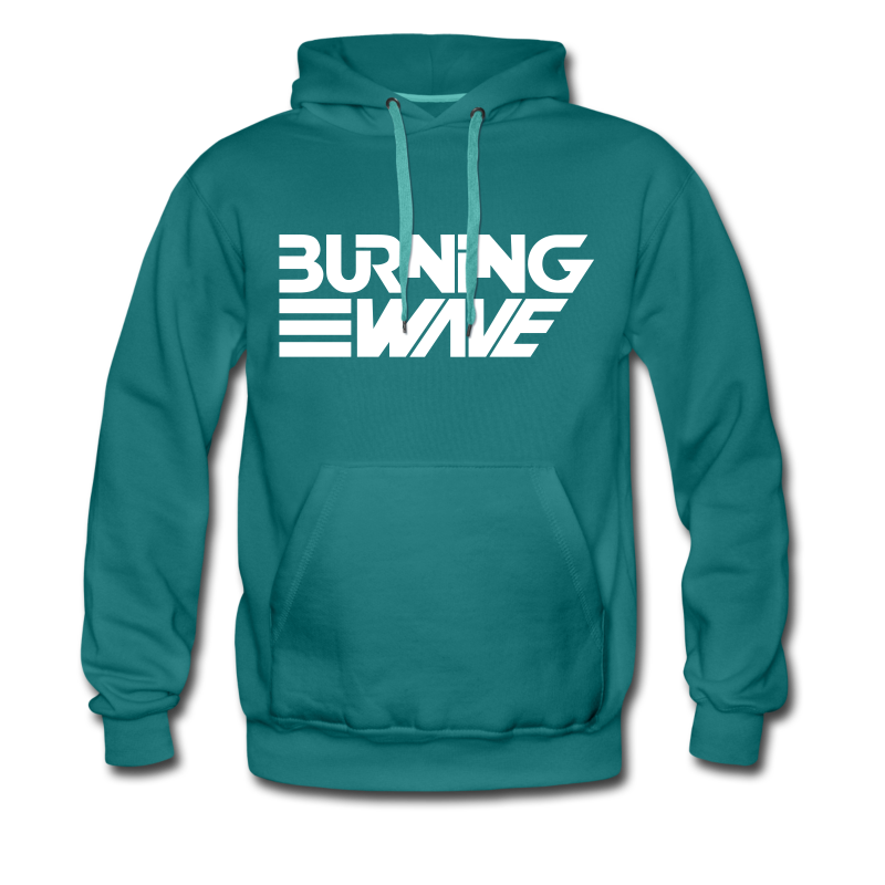 Burning Wave Block - Sweat-shirt à capuche Premium pour hommes