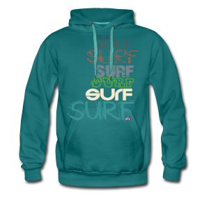Surfing dreams for surf addicted, by kite-mallorca - Men's Premium Hoodie