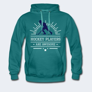 Hockeyplayers are Awesome , blue - Männer Premium Hoodie