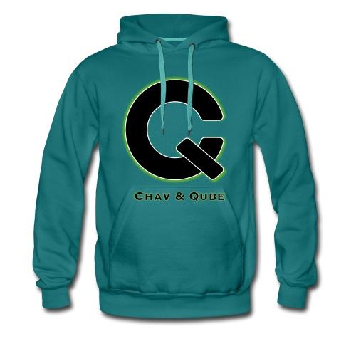 Chav & Qube Logo Zwart - Mannen Premium hoodie