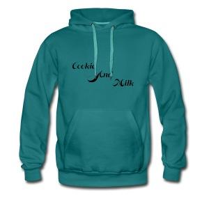 cookie and milk psd - Mannen Premium hoodie