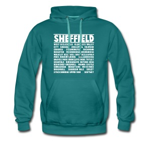 Sheffield City (White) - Men's Premium Hoodie