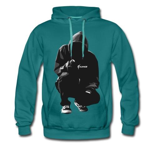 Kunce Clothing Original Hoodie B/W Trace - Men's Premium Hoodie