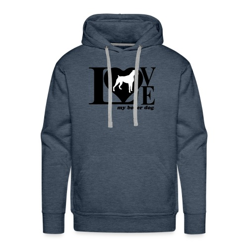 Amor de bóxer - Sudadera con capucha premium para hombre