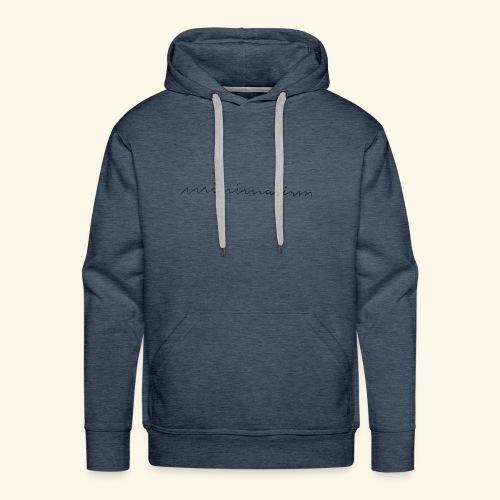 minimalism - Männer Premium Hoodie