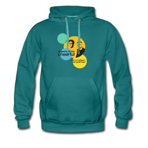 Reasons logo with Ed & Geoff (light background) - Men's Premium Hoodie