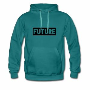 Future Clothing - Text Rectangle (Black) - Men's Premium Hoodie