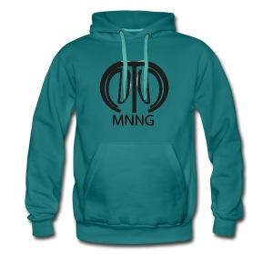 logo mnng V5 - Mannen Premium hoodie