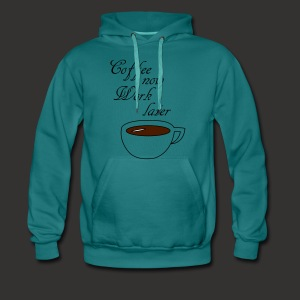 Coffee now work later - Männer Premium Hoodie